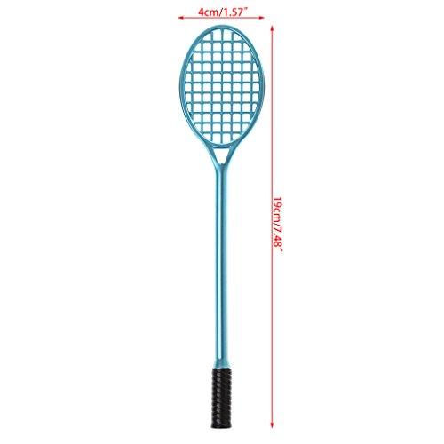 NKYSM 0,38 mm Gelschreiber Kreativer Badminton Schläger Form Kugelschreiber Schulamt Schreibwaren Geschenk