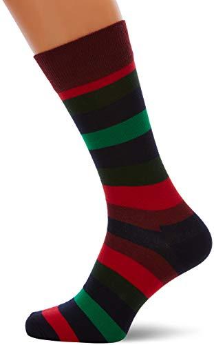 Happy Socks Herren Stripe Socken, Mehrfarbig (Multi Resolution Blue 7006), One Size (Herstellergröße: 41-46) -