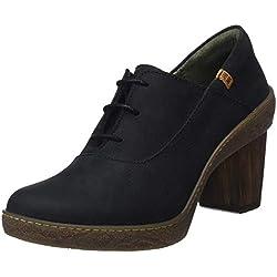 El Naturalista N5174 Pleasant Black/Lichen, Zapatos de tacón con Punta Cerrada para Mujer, Negro, 41 EU