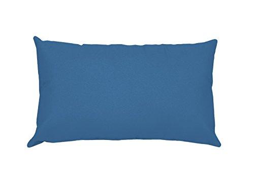 Lovely Casa T24820001Alicia Kissenhülle, 50x 70cm, 100% Baumwolle, Blue Jean, 50 x 70 cm -
