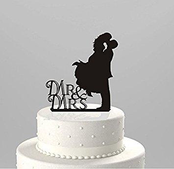 Honeysuck Wedding Cake Decor Bride and Groom Couple Acrylic Decor