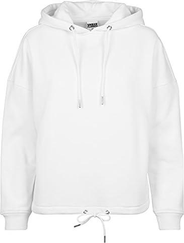 Urban Classics Damen Ladies Kimono Hoody Kapuzenpullover,, per pack Weiß (white 220), X-Small (Herstellergröße: XS)