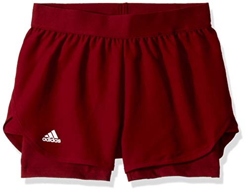 adidas Mädchen Club Tennis Short Collegiate Burgundy, Small