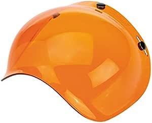 Visier Bubble Biltwell Orange Antibeschlag Für Jethelme Mit 3 Knöpfen Neuheit Sport Freizeit