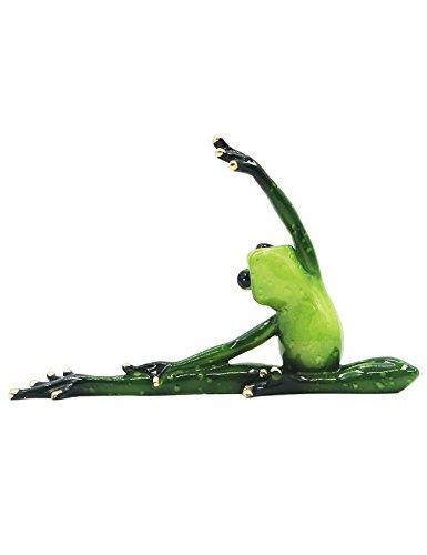 RAIKOU Moralische Integrität Frosch/Yoga Frosch, Schlafzimmer/Wohnzimmer /Fensterbank/Dekoration des Arbeitszimmer,Harz, Grün ,unterschiede Stil-115010 (Yoga Frosch 7)