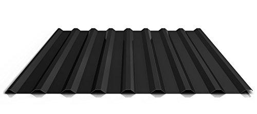 Trapezblech | Profilblech | Dachblech | Profil PS20/1100TR | Material Stahl | Stärke 0,50 mm | Beschichtung 25 µm | Farbe Schwarz
