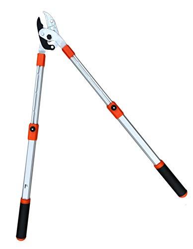 Adlus Teleskop Amboss-Astschere | Baumschere | Messer mit Präzisionsschliff | 50 mm Klinge | 6-fach verstellbarer Griff | Länge: ca. 64 bis 99 cm