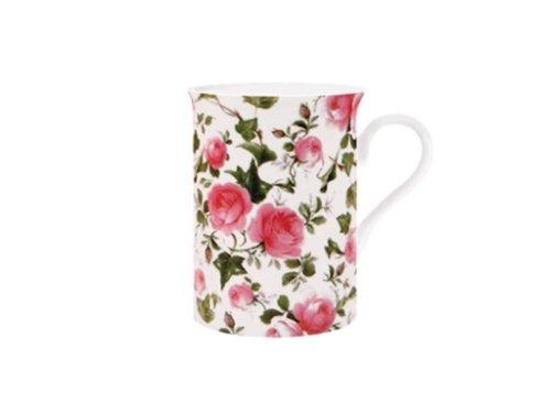Maxwell & Williams S568473 Royal Old England Becher, Kaffeebecher, Tasse, Motiv: Frühlingsrose, in Geschenkbox, Porzellan Royal Becher