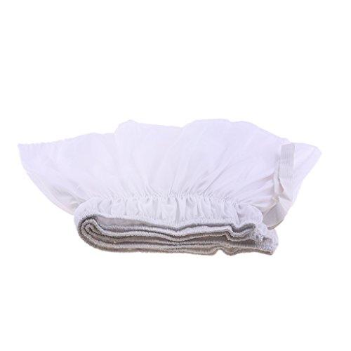Baoblaze Einfarbige Bettvolant Bettdecke mit Rock, Weiche Bettrock für Schlafzimmer - Weiß, 150cmx200cm + 38cm