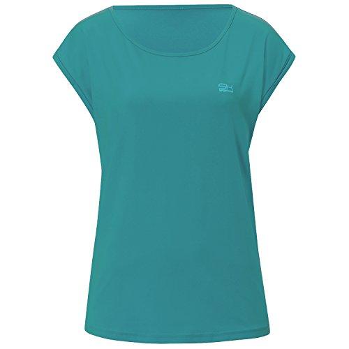 Sportkind Mädchen & Damen Tennis / Fitness / Sport Loose Fit T-Shirt, petrol grün, Gr. M (Grünes Ovales T-shirt)