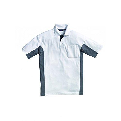 d2fa4a4c421dde PIONIER WORKWEAR Herren Poloshirt-Piqué 2-farbig kurzarm in weissgrau (Art.-