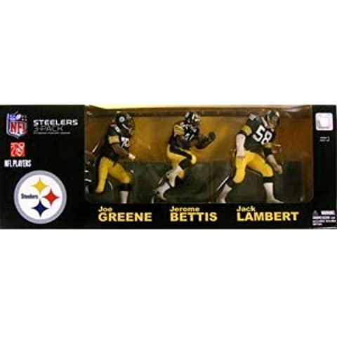 McFarlane Toys NFL Sports Picks Exclusive Action Figure Pittsburgh Steelers Legends Jack Lambert, Jerome Bettis and Joe Greene by NFL