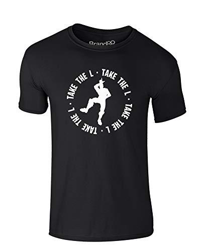 Brand88 Take The L, Enfant T-Shirt - Noir/Blanc 9-11 d'occasion  Livré partout en Belgique
