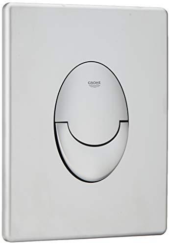 GROHE Skate Air | WC - Betätigungsplatte | mit 2-Mengen- und Start-Stopp-Funktion für pneumatische Betätigung , senkrecht , mattchrom | 38505P00