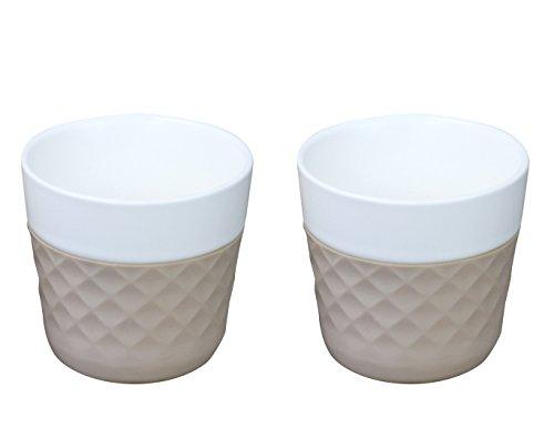 COOKUT Lola 2 Porcelaine Tasses à café 12.5 cl, Taupe