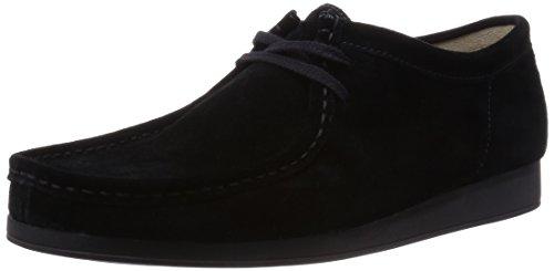 clarks-originals-wallabee-aerial-26108396-7-mens-suede-casual-shoes-black-black-8-uk