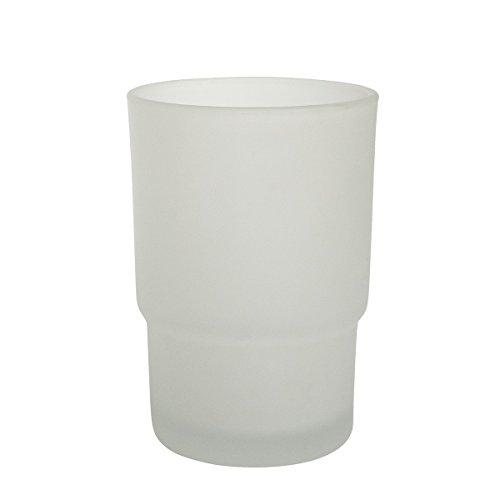 Badserie Ambiente - Ersatzglas für Zahnputzbecherhalter aus satiniertem Glas - Glas-zahnputzbecher