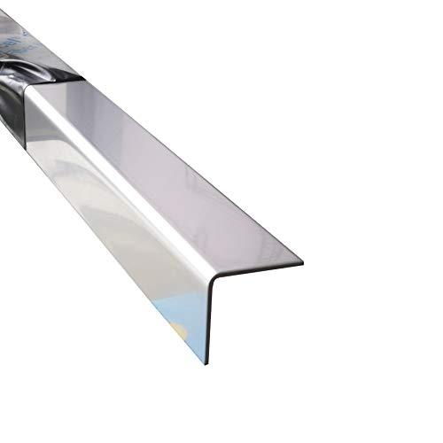 Edelstahl Kantenschutz 1500 mm V2A blank Eckschutzprofil 150 cm lang (40x40x1,0 mm)