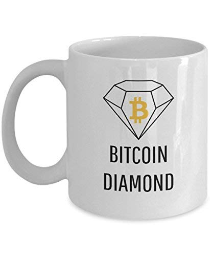 Official Bitcoin Diamond Cryptocurrency Mug Acrylic Coffee Holder White 11oz Crypto Miner Blockchain Invest Trade Buy Sell Hold BCD (Travel Bcd)