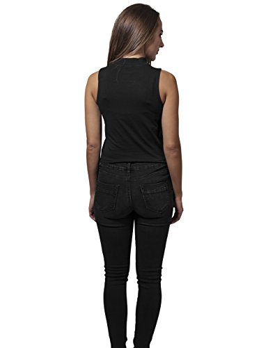 Urban Classics Ladies - Turtleneck Short Top noir Noir