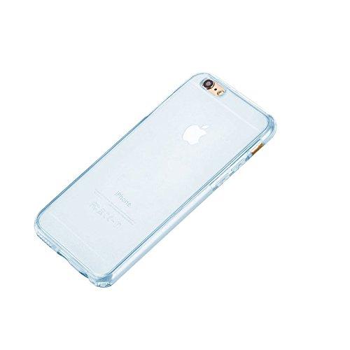 Minto Crystal TPU Full Body 360 ° Hülle iPhone 7 Plus Silikon Case Cover Etui Tasche - transparent Komplett Schutzhülle Hellblau -i6