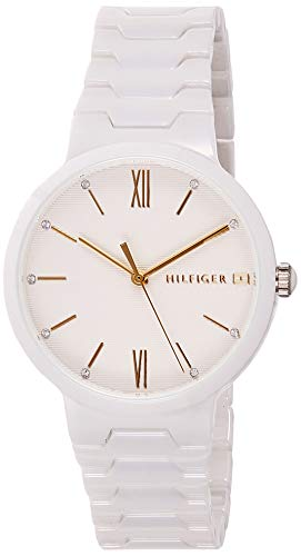 Tommy Hilfiger Damen Analog Quarz Uhr mit Keramik Armband 1781956