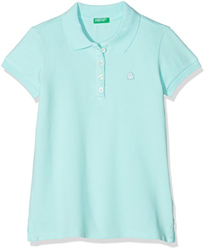 United Colors of Benetton Mädchen Poloshirt H/S Polo Shirt, TÜRKIS, M