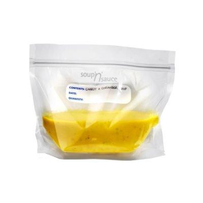 Lakeland Soup 'n' Sauce Sealed Freezer Clear Storage Bags (1 Litre) x 20