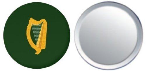 Miroir insigne de bouton Irlande Leinster drapeau - 58mm