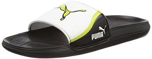 Puma Cat Slide TS, Herren Dusch- & Badeschuhe, Schwarz (black-white-sulphur spring 05), 40 EU (6.5 Herren UK)
