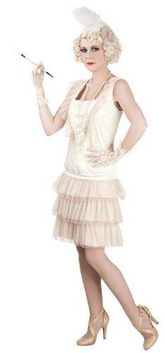 Boland 85010 - Erwachsenenkostüm Charleston Lady, beige, Gröߟe 40 / (Tanz Kabarett Kostüme)