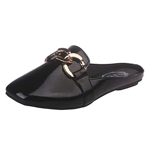 Ears Damen Mode Erbsenschuhe lässig Tuch Schuhe Sommer Römische Schuhe Elegant Strand Sandalen Plus Größe Sneakers Leichte Schuhe Slip On Lederschuhe flach mit Schuhe Outdoor Hausschuhe