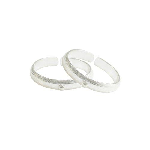 Frabjous Lovely Pair of Designer German Silver Adjustable Toe Ring For Women Rakhi Gift for Sister  available at amazon for Rs.225