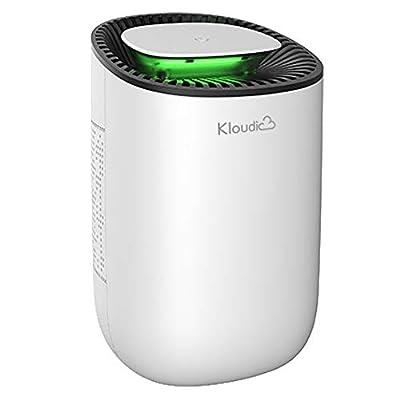 KLOUDIC Dehumidifier 600ml Portable Mini Electric Dehumidifier Ultra Quiet Air Cleaner for Home, Kitchen, Garage, Wardrobe, Basement