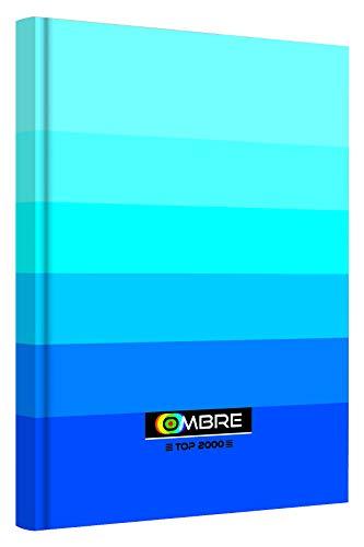 TOP-2000 400089369 A4-Kladde 96 Blätter, Karo, 5 Stück-Packung, OMBRE Kollektion Blau -