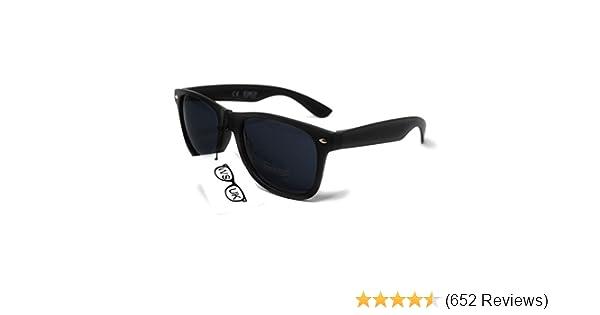 9bb86ef6d2 Black Lens Classic Sunglasses - Style Unisex Shades UV400 Protective Mens  Ladies (Black)  Amazon.co.uk  Sports   Outdoors