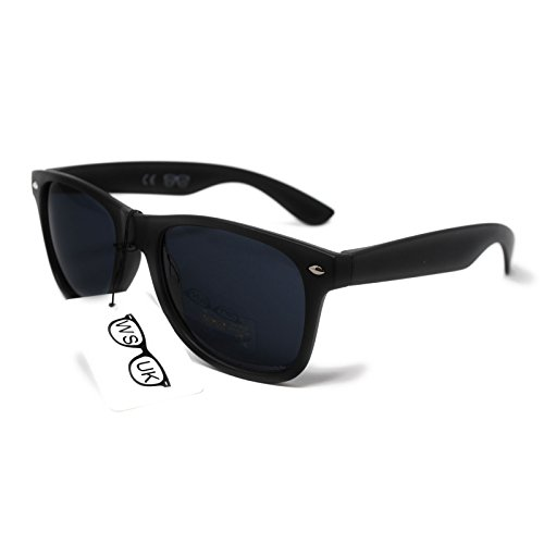 Black Lens Classic Sunglasses - Style Unisex Shades UV400 Protective - Low Price!