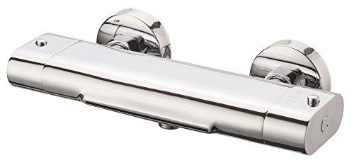 Wannenfüllarmatur Carneo, mit Thermostat und Schwallauslauf, Chrom, 1330090 - Badewanne Wasserfall