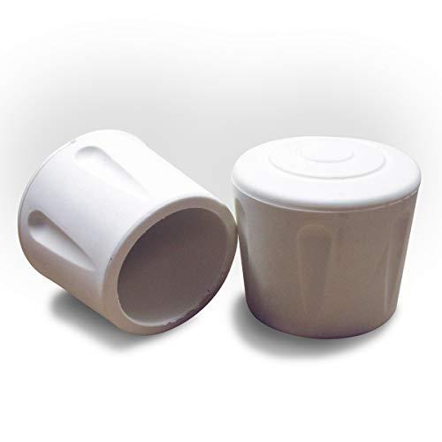 ajile Fusskappe Rohrkappe aus Verstärktem Vulkanisiertem Gummi WEISS für Tisch- Stuhlfüsse Möbelfüsse mit 28 mm Durchmesser - 4 Stücke - EVS228x4-FBA