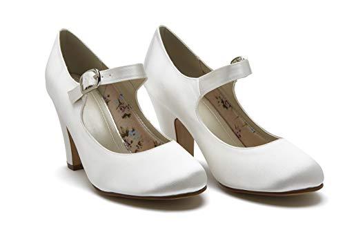 Rainbow Club Brautschuhe Madeline Ivory Satin (Bliss) (6) - Schuhe Madeline