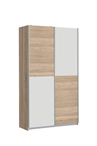 #NEWFACE OHS722X4-Q45F  Mehrzweckschrank, Holz, Sonoma Eiche Dekor/Weiß, 120 x 42 x 190.5 cm#
