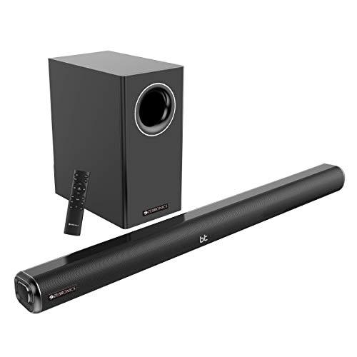 Zebronics Zeb-Juke BAR 5000 PRO 2.1 Multimedia Sound Bar with Subwoofer Features Bluetooth Connectivity,USB Input and Aux Input