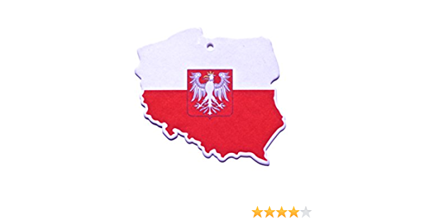 Duftbaum Lufterfrischer Flagge Polen Für Das Auto Im 3er Set In Verschiedenen Gerüchen Duft Auto