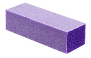 TNBL Purple/White 3 Way Nail Buffer Block 60/100 Grit - 50 Pieces