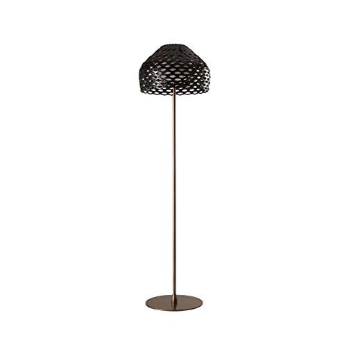 Post-moderne Pinecone Metall Stehleuchte Kreative Persönlichkeit Hohl Acryl Lampenschirm Stehleuchte Schwarz 180x50cm 0710P (Hohl-post)