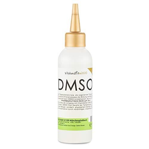 DMSO Dimethylsulfoxid 99,99% (Ph. Eur.) in HDPE Tropferflasche 100 ml [Original, zertifiziert nach dem europäischen Arzneibuch]