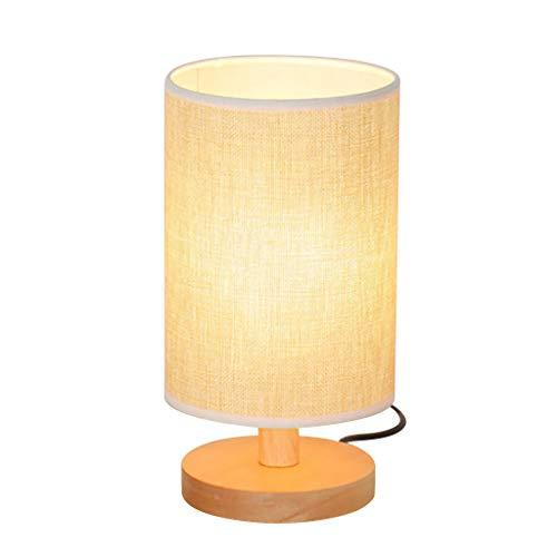 DIKHBJWQ,Nachttischlampe Nachtlicht Warmweiß Birne Dimmbare Geschenk Holz Tischlampe,Tischlampe Vintage Landhausstil,Wohnaccessoires,Wandleuchten solar -
