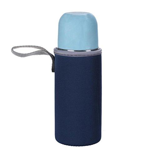 sunnymi Wasser-Flaschen-Beutel/Löschen Flaschengriffe Portable Bag/Plastik Wasser Tasse Glas Tasse (dunkelblau)