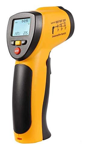Komerci HT-88C Laser Infrarot-Thermometer Pyrometer Distanz 12:1 bis +550°C gelb/grau