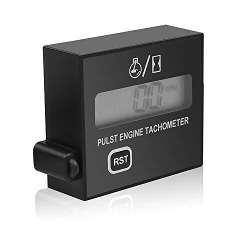 Dogggy Digitaler Drehzahlmesser induktiver Drehzahlmesser für Kettensägen Rasenmäher Motorräder Induktive Drehzahlmesser mit Stundenzähler Batterie Austauschbar